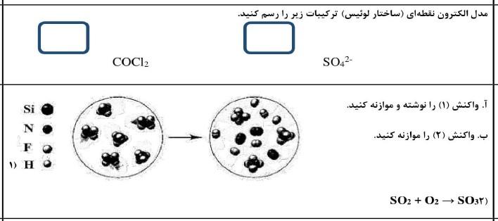 نمونه سوالات شیمی دهم تجربی نوبت دوم به همراه جواب(نمونه دهم):